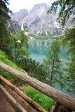 Озера Braies Стоковое Изображение RF
