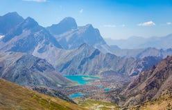 Озера Kulikalon, горы Fann, туризм, Таджикистан Стоковое Изображение