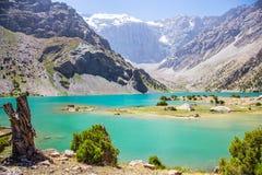 Озера Kulikalon, горы Fann, туризм, Таджикистан Стоковые Фото