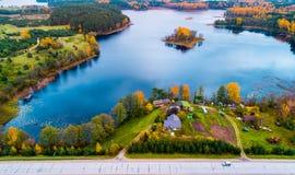 Озера Moletai Стоковое фото RF