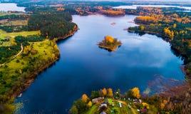 Озера Moletai Стоковое Изображение RF