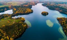 Озера Moletai Стоковая Фотография RF