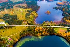 Озера Moletai Стоковая Фотография