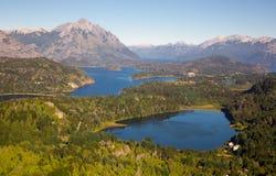 Озера Nahuel Huapi и гора Campanario Стоковые Изображения
