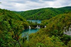 Озера Plitvicka Jezera, Хорватия Стоковое Изображение