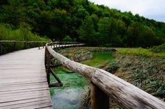 Озера Plitvicka Jezera, Хорватия Стоковые Изображения