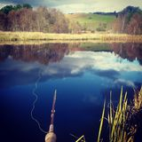 Озерная форель Шотландии рыбной ловли мухы Стоковая Фотография