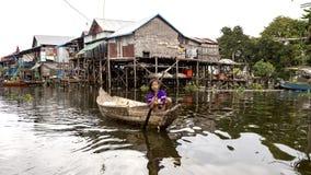 Озеро подрыв Tonle местные люди стоковое изображение rf