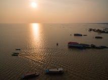 Озеро подрыв Tonle стоковое фото