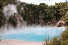 озеро ада кратера стоковые изображения rf