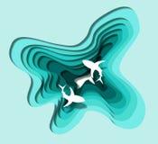 Озеро акул искусства слоя иллюстрация штока