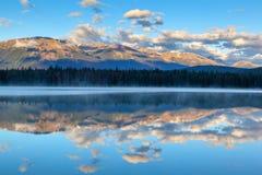Озеро Анетта на национальном парке яшмы, Альберте, Канаде Стоковые Изображения