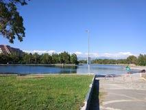 Озеро Анталь Manavgat знобя Стоковое Фото
