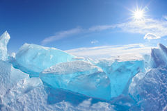 Озеро Байкал зимы Стоковые Изображения