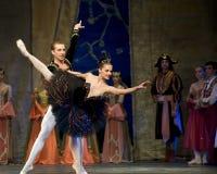 озеро балета выполняет королевского русского лебедя стоковое фото