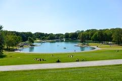 Озеро бобр - парк держателя королевский, Монреаль, Квебек Стоковые Фотографии RF