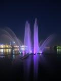 Озеро более низкий хряк с фонтаном в Казани, России Стоковые Изображения