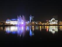 Озеро более низкий хряк с фонтаном в Казани, России Стоковое фото RF