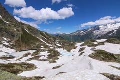 Озеро большая возвышенность Шамони стоковые фотографии rf