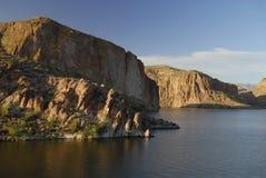озеро вечера каньона Аризоны около phoenix Стоковое фото RF