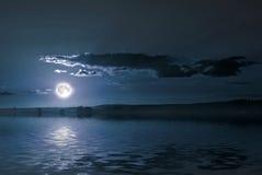 озеро вечера сверх Стоковые Фотографии RF