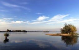 озеро вечера сверх Стоковые Фото