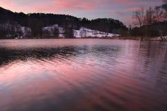 озеро вечера цвета Стоковое фото RF