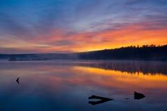 озеро вечера Стоковое Изображение