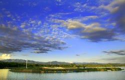 озеро вечера Стоковые Изображения RF