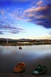озеро вечера Стоковые Изображения