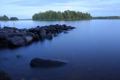 озеро вечера Стоковая Фотография RF