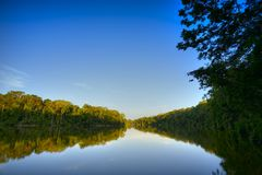 озеро вечера Стоковое Изображение RF