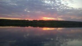 Озеро вечер Стоковая Фотография RF