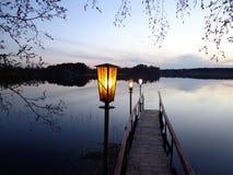 Озеро вечер Стоковые Изображения