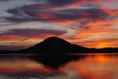 Озеро вечер стоковое фото rf