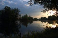 Озеро вечер Стоковое Изображение RF