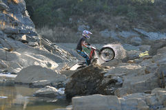 Озеро велосипеда проб стоковая фотография