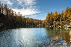 Озеро ведьм, горная вершина Devero Стоковые Фото
