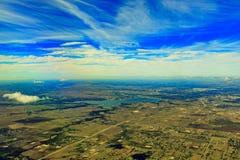 Озеро виноградное вино от верхней части Стоковое Изображение