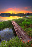 Озеро восход солнца Стоковое фото RF