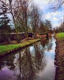 Озеро в Амстердаме стоковая фотография rf