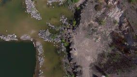 Озеро в виде с воздуха видеоматериал