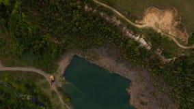 Озеро в виде с воздуха сток-видео