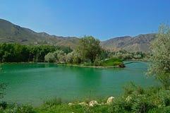 Озеро в горах, Кыргызстан Стоковое Изображение RF