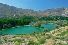 Озеро в горах, Кыргызстан Стоковое Изображение
