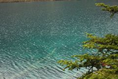 Озеро в горе Стоковое фото RF
