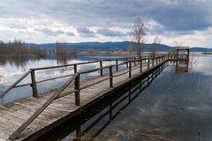 Озеро в Греции Стоковая Фотография