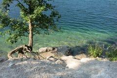 Озеро в лете, Бавария Германия Eibsee, Garmisch Partenkirchen Стоковое Фото