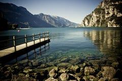Озеро в Италии Стоковые Изображения