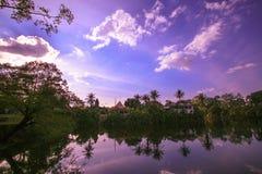 Озеро в Камбодже Стоковая Фотография